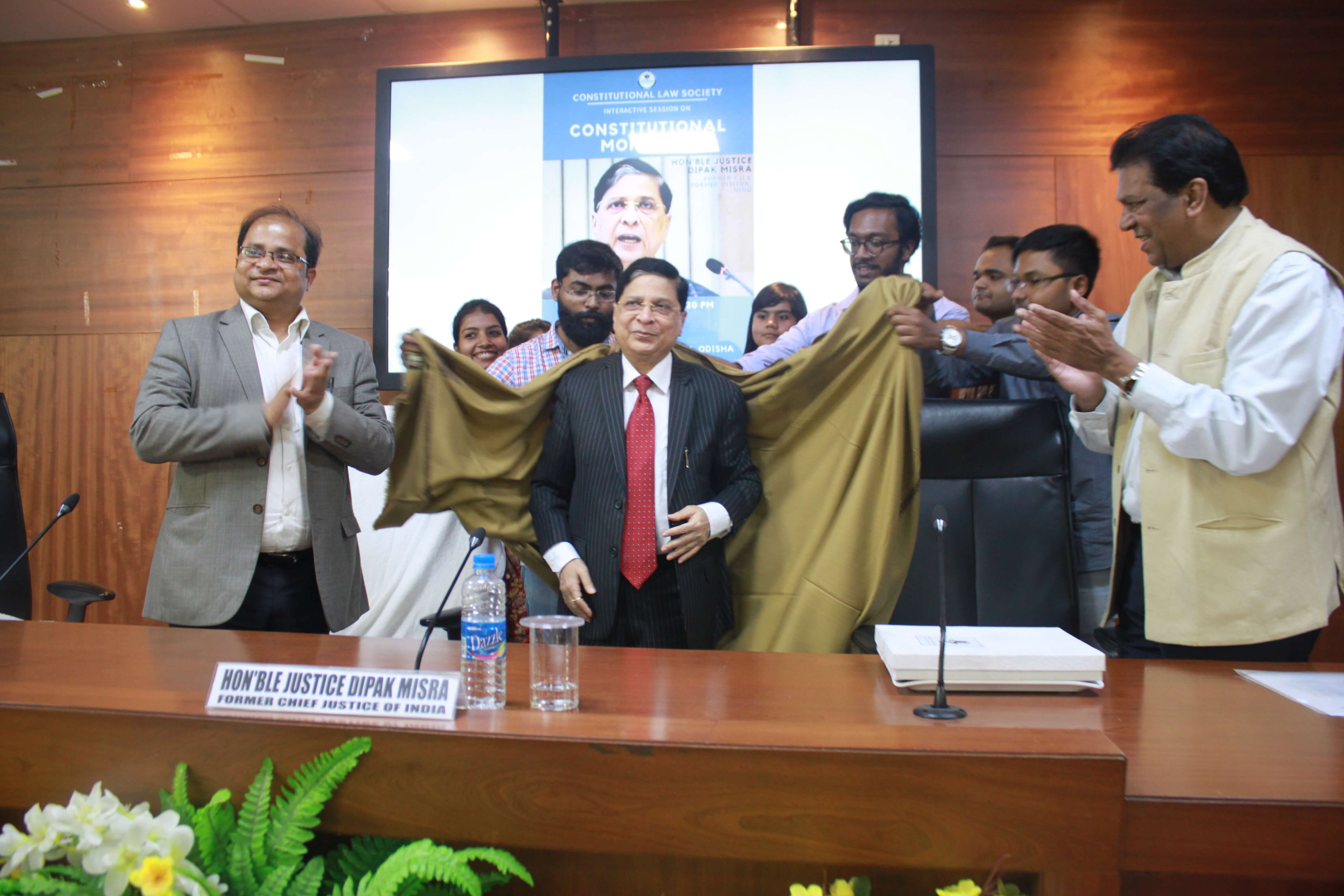 Interaction of Hon'ble Justice Dipak Misra with students and faculty members